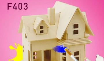 Ofer cadou în data de 15 ianuarie – căsuță din placaj puzzle 3D