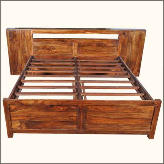 mobila din lemn de trandafir - cadru de pat