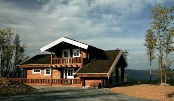 Cabana din bușteni la cheie