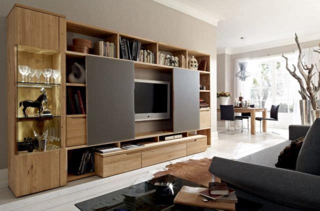 mobila din lemn masiv Uși glisante
