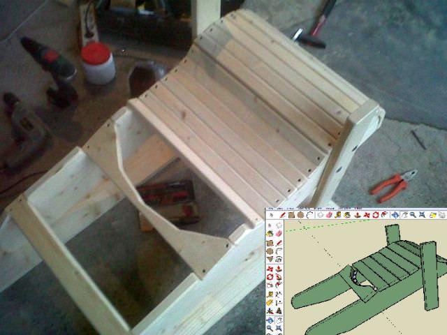 proiect DIY - scaun Adirondack din lemn