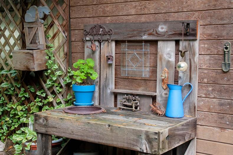 masa de lemn pentru gradina