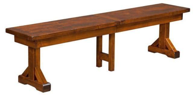 masa din lemn masiv Trestle Table