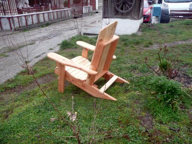 scaun de lemn Adirondack pliant