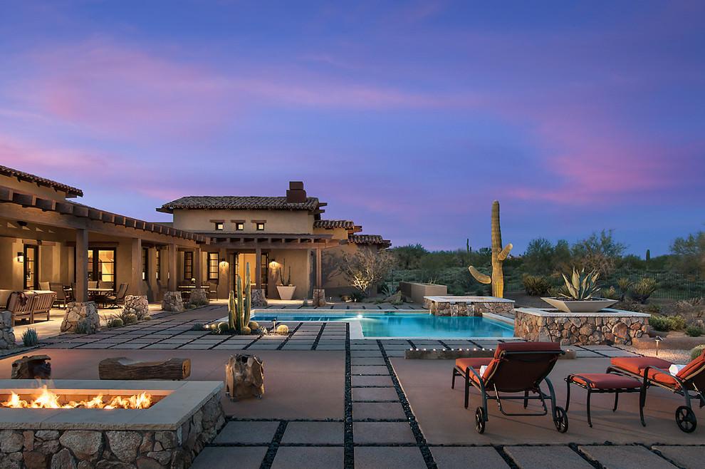 casa design rustic din Arizona
