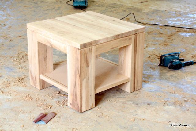 mobila din lemn masiv - masa de cafea