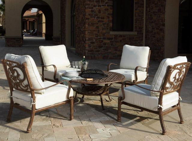 mobilier de terasa mese cu focar