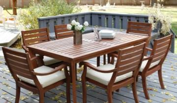 15 idei pentru setul de terasă, fie din lemn, fier sau ratan
