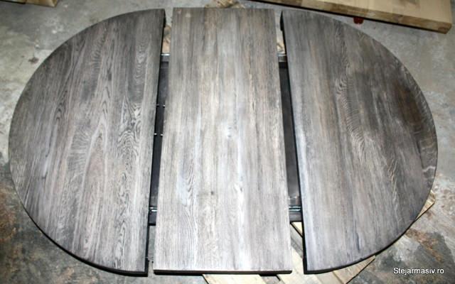 mobila din stejar - Blat rotund