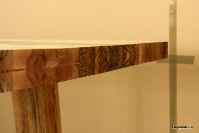 masa fixa rustica din lemn masiv