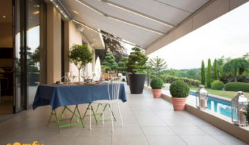 Cum obții spațiu suplimentar folosind copertine pentru terase?