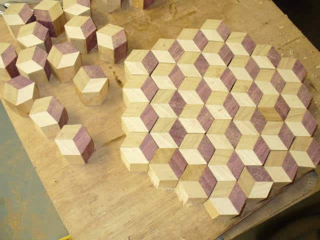 model hexagonal blaturi de masa - realizare
