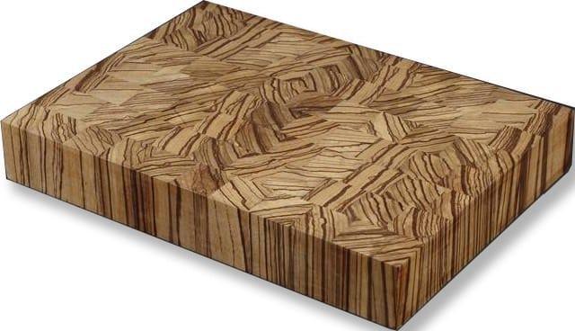 tocator din lemn de zebrano lipit pe contrafibra