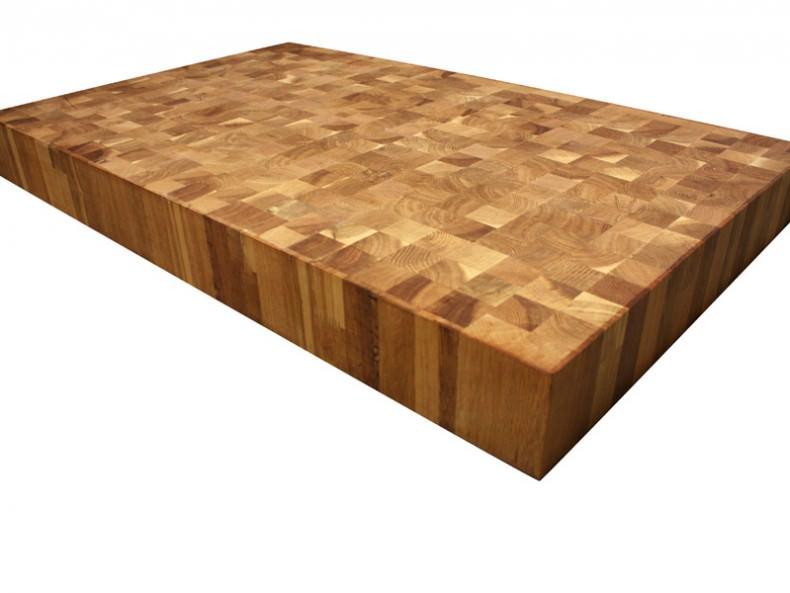 tocator din lemn lipit pe final de fibra