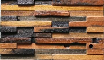 Mozaic din lemn pentru perete