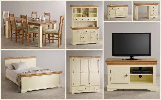 mobilier rustic cu vopsea stil casa de la tara