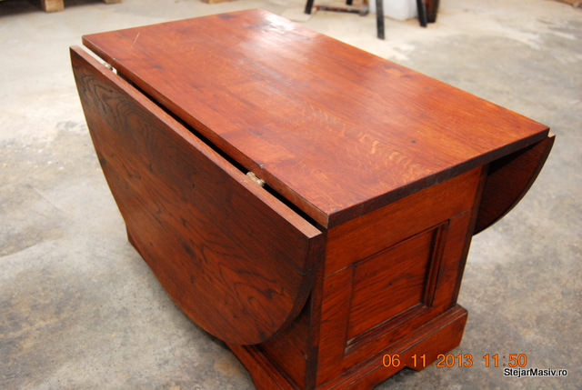 mobila din lemn masiv - - Masuta plianta de cafea