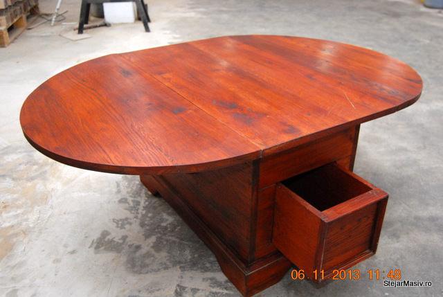 mobila din lemn masiv - Masuta plianta de cafea