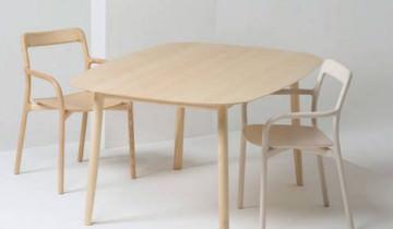 Masă, scaun și scaun de bar din seria Branca de la Mattiazzi