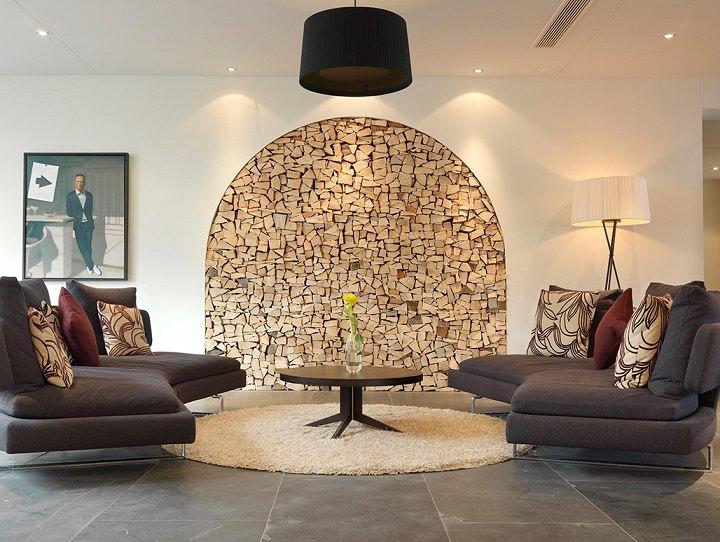 idei de amenajare interioara - stive de lemne pentru foc