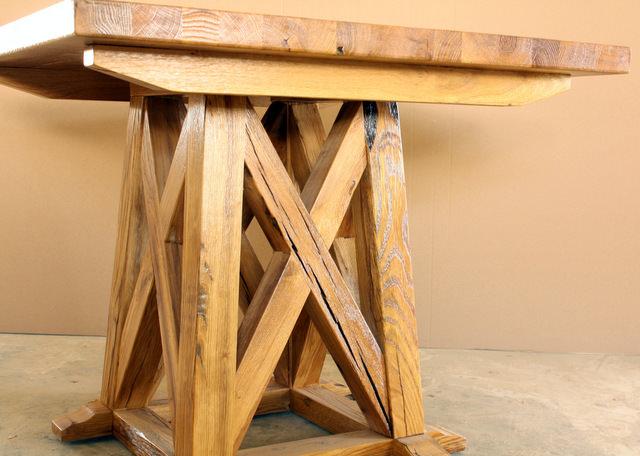 mobila din lemn masiv - mese speciale din stejar vechi