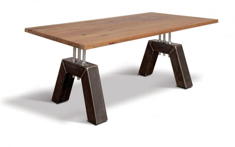 masa din lemn si metal