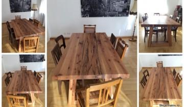 Masa din lemn de cer, model Georgia, a lui Arthur Balogh