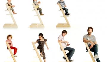 Scaun din lemn pentru bebelusi