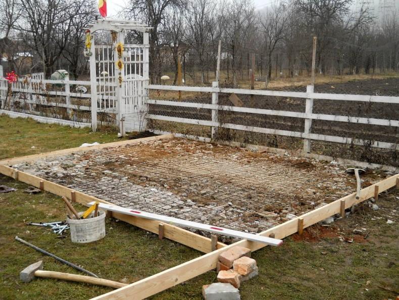 constructia unui foisor - gazebo