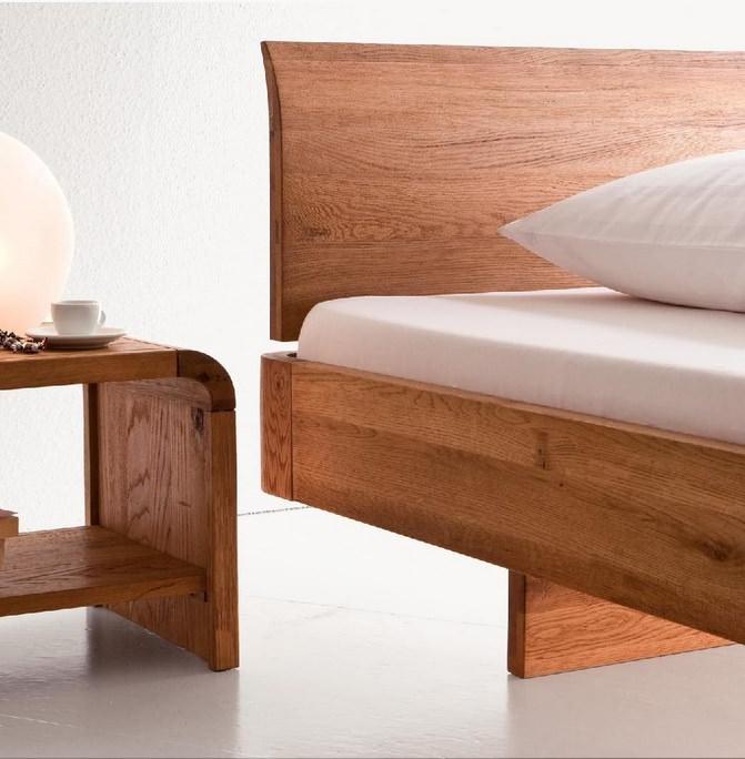 set dormitor - pat din stejar
