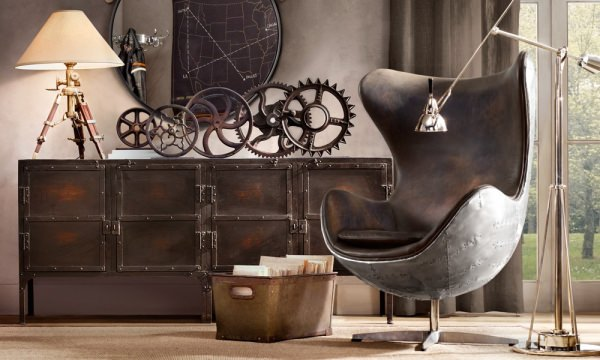 rustic industrial vintage - decor industrial
