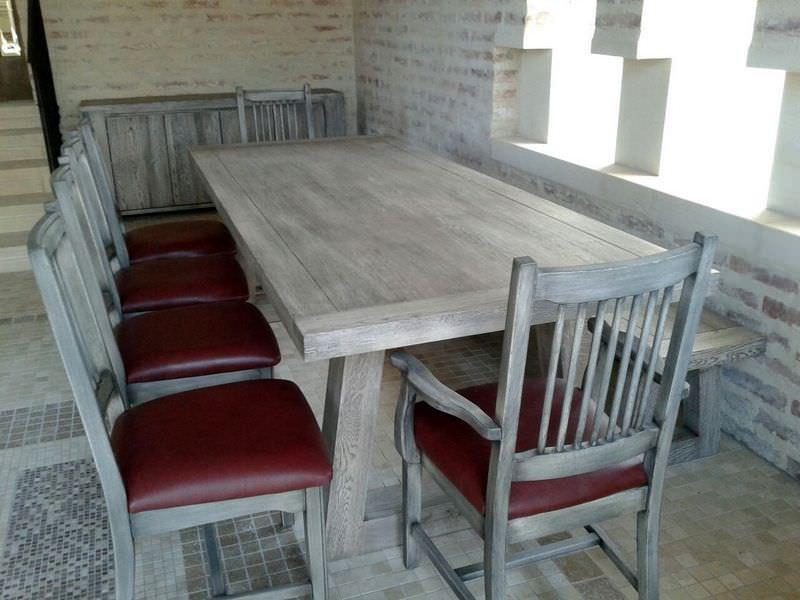 Set masa Georgia și scaune Edward cu banca New Grey
