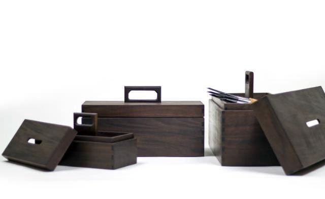 lada de scule din lemn - Aaron Poritz