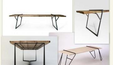 Mese cu design special – lemn masiv și picioare metalice