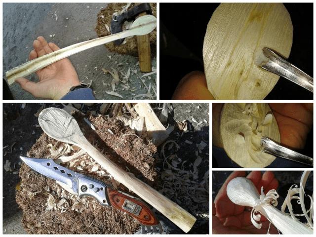 lingura de lemn de salcâm