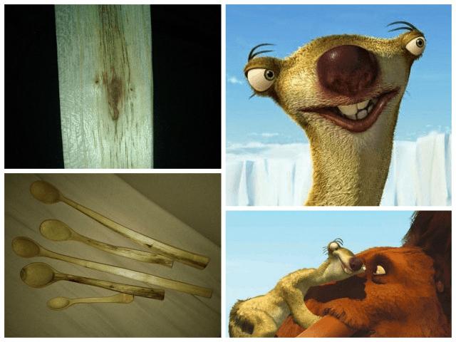 lingurile de lemn de salcâm