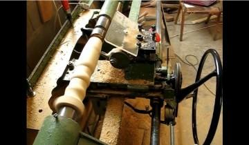 Cum se fabrică un picior strunjit din lemn