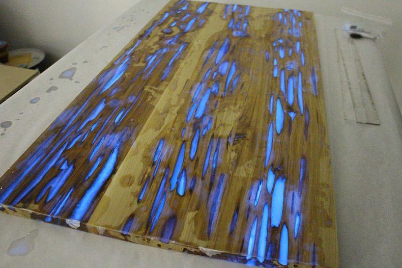 rasina epoxidica si pigment fotoluminiscent