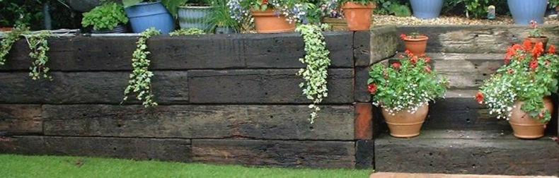 traverse de lemn vechi si noi pentru peisagistica