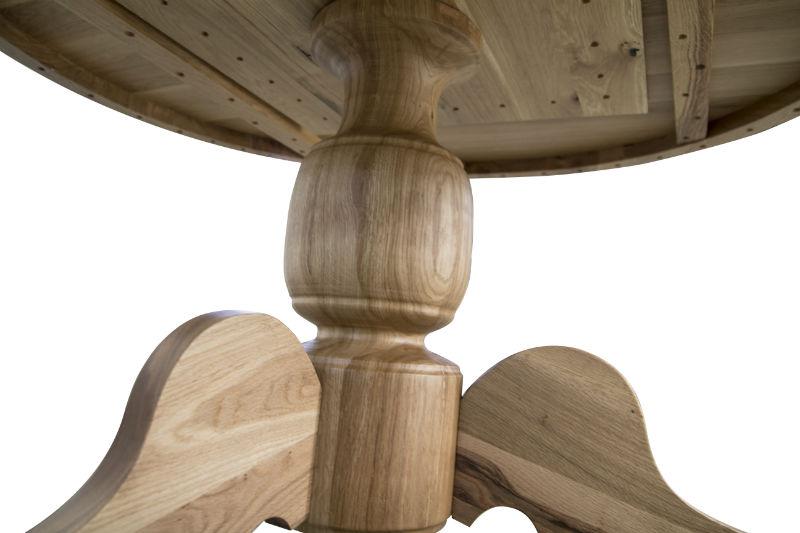 Masa rotunda din stejar