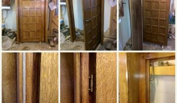 Ușă din stejar – lemn masiv si MDF furniruit – 1300 lei