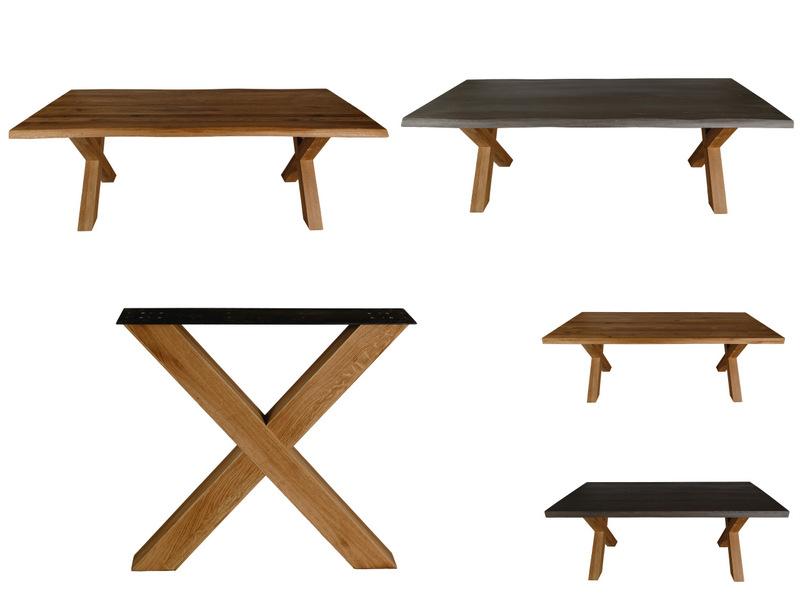 Picioare X din lemn