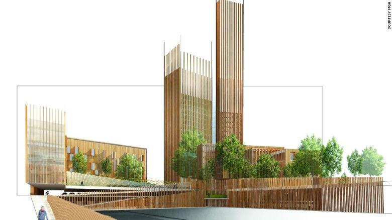cladiri urbane din lemn