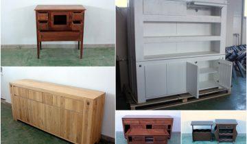 Piese de mobila din lemn masiv, finisate, pe stoc, în segmentul mobila orfana