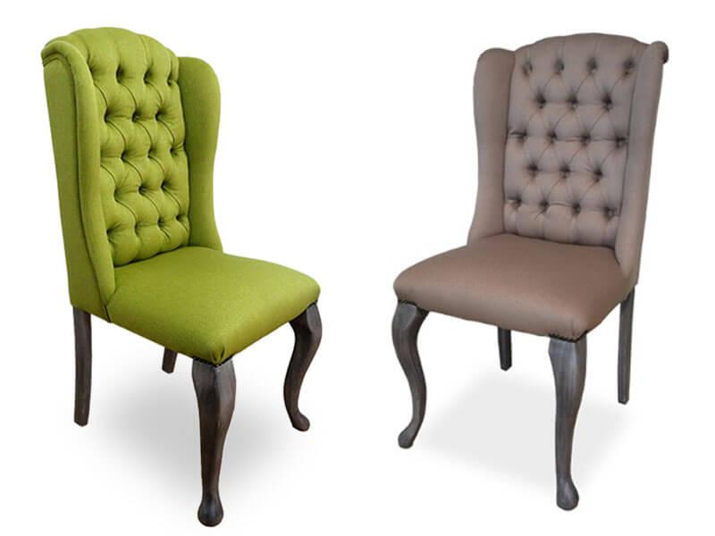 scaun din lemn cu tapiterie tabak clasic