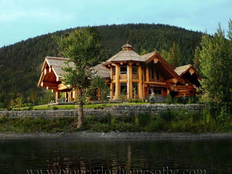 structuri si case din busteni americane