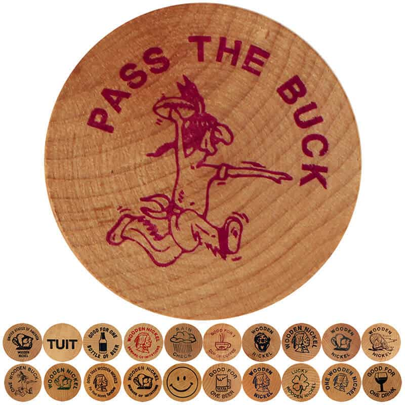 moneda din lemn