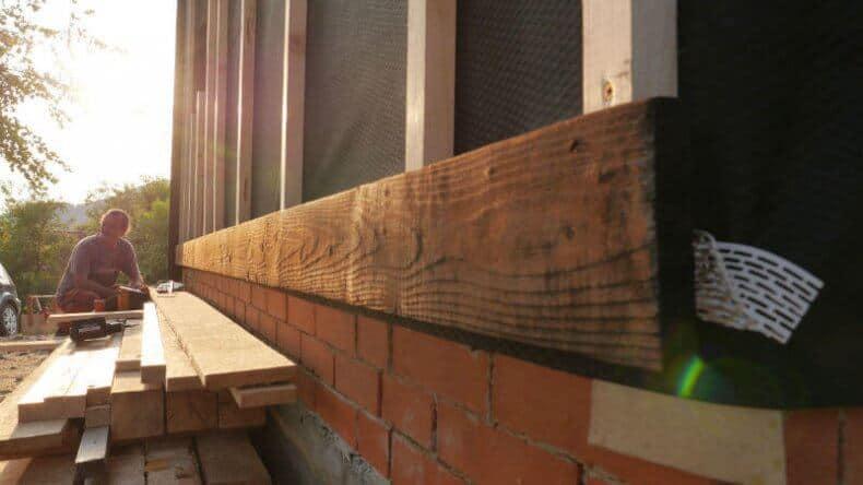 arderea scandurii pentru fatade ventilate - fixarea cu suruburi inox Eurotec