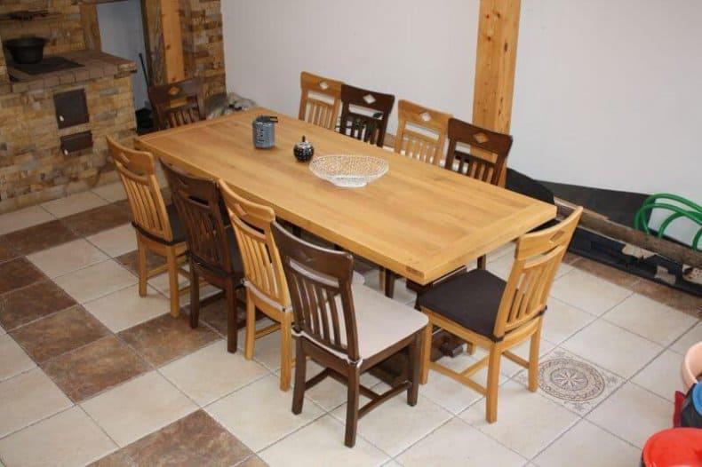 set de masa si scaun din stejar Dijon pentru terasa