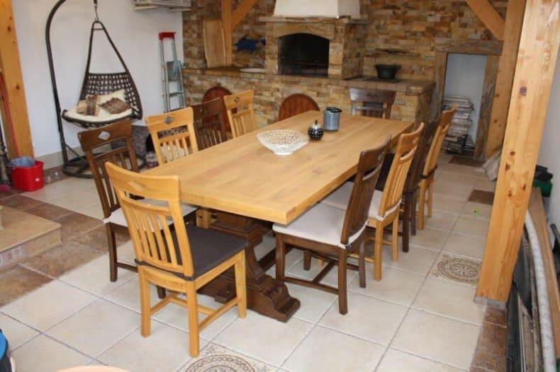 mese și scaune din stejar pentru terasa